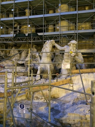 Trevi Fountain-sadly it was under construction