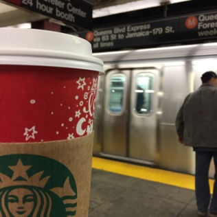 Chai Tea Latte in subway