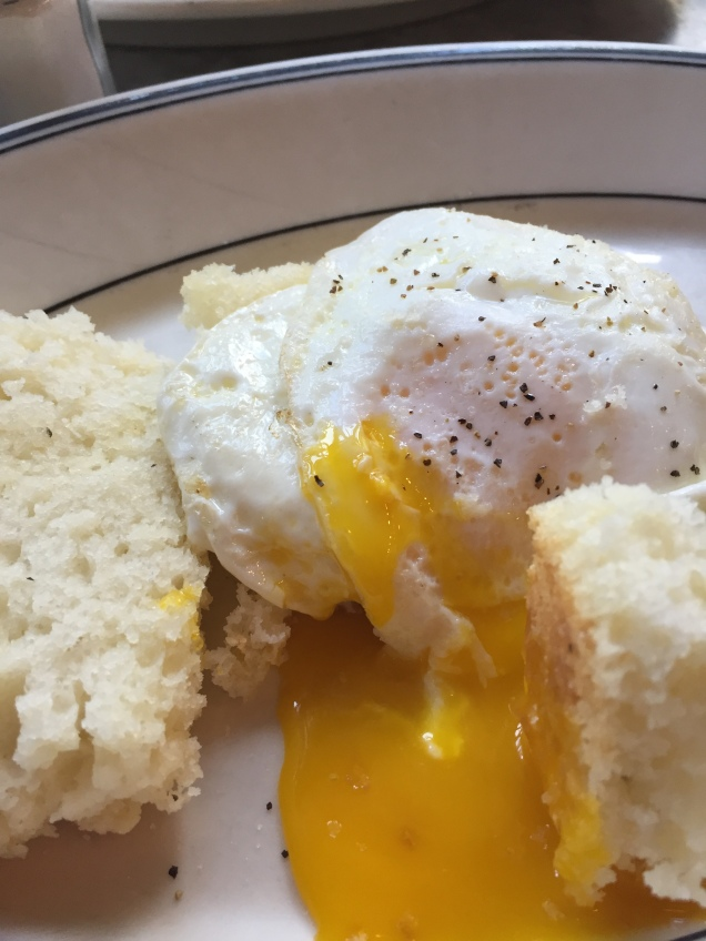 Fried Eggs and Biscuits